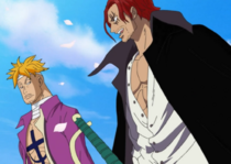 Shanks and Marco at Whitebeard and Ace's Funeral