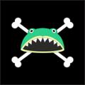 Piratas Rana Dentada bandera