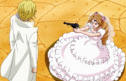 Pudding Confronts Sanji