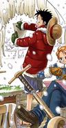 Rozdział 133 Luffy w czerwonej kurtce i zielonych rękawiczkach