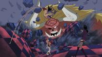 Oars Destroys Moria's Dance Hall With Gomu Gomu no Kane
