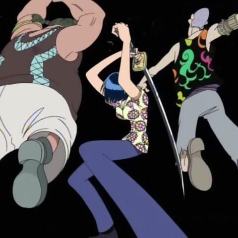 Tashigi erledigt Packy und Koze.