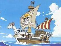 De Goint Merry, het eerste schip van de Straw Hats
