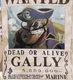 Cartel de recompensa de Gally en Romance Dawn Story