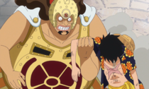 Gatz Helps Luffy