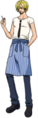Vestimenta de Sanji en el arco del rey del ácido carbónico