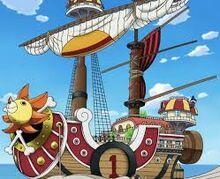 De Thousand Sunny, het tweede schip van de Straw Hats
