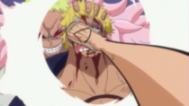 Doflamingo covered Bellamy