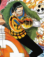 Crocodile's Manga Color Scheme
