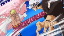 Doflamingo vs. Law
