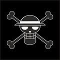 Falsos Piratas de Sombrero de Paja bandera
