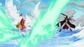 Mihawk ataca a Luffy