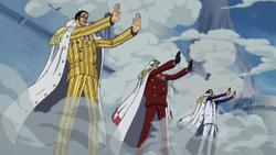 Almirantes usando Busoshoku Haki