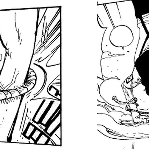 Zuerst den linken Arm gefangen (links) und dann das Seil vom rechten Arm gelöst (rechts).