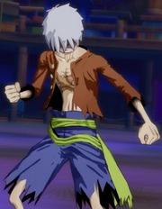 Luffy as an Old Man in Unlimited World Red