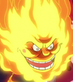 Prometheus en forma de bola de fuego
