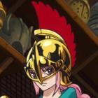 Rebecca With Gladiator Helmet
