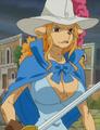 Wanda con vestimenta de Mosquetera