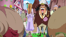 Pudding salva a Luffy y Chopper de ser arrestados