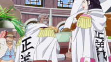 Gion and Tokikake Arguing With Garp