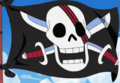 Red Hair Pirates Jolly Roger