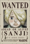 Sanji's Wanted Poster