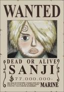 Sanji's Wanted Poster
