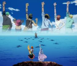 Adieu de Vivi à l'équipage du Chapeau de Paille