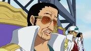 Kizaru, Akainu und Aokiji vor Aces Schafott