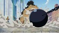 Yokozuna stoppe une attaque Anime
