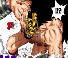 Hajrudin siendo noqueado por Luffy
