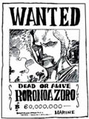 Wanted Zoro 60 000 000