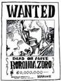 Wanted Zoro 60 000 000