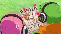 Ёнджи любуется листовкой Нами