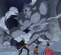 Pica Confronts Luffy's Group