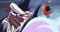 Luffy frappe Cesar au visage 1