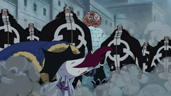 Moria Attacked by Doflamingo and Pacifistas