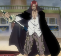 Shanks Bringing Out His Sword