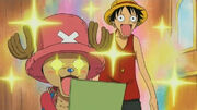 One Piece Luffy Chopper Amazed and Amazing