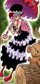 Coloreado digital del manga de Perona tras el salto temporal