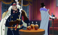Shiryu and Laffitte on a Blackbeard Pirates Ship
