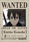 Kirito Kenshi Wanted Poster
