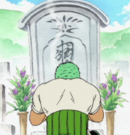 Kuina's Grave in the Anime