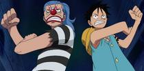 Luffy dan Buggy Bekerja Sama