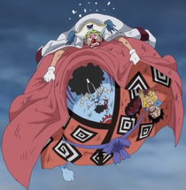 Buggy Rescues Jinbe and Luffy