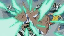Daz Bonez protège Luffy