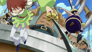 Haruta Jumping Into Battle