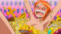 Nami Bathing in Gold