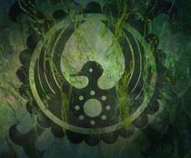 Герб семьи Кодзуки внутри Китового Дерева