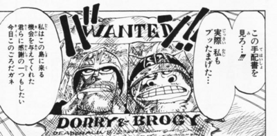 Dorry and Brogy Manga Spellings